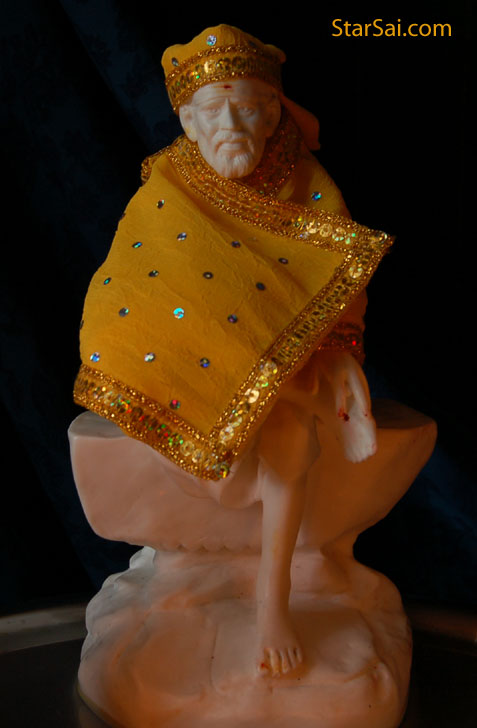 Beautiful Shirdi Saibaba statue which i worship everyday