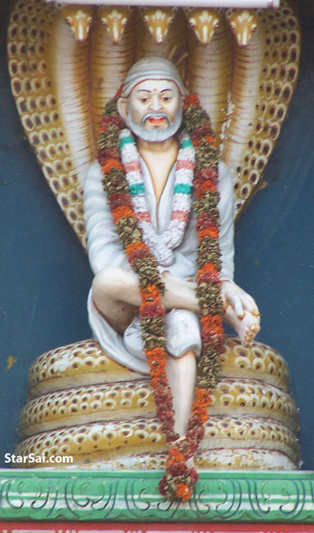 Shirdi Saibaba beautifully sitting on the Snake - NagaSai
