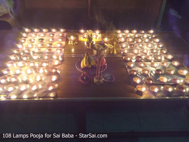 108 lamps pooja for Sai Baba