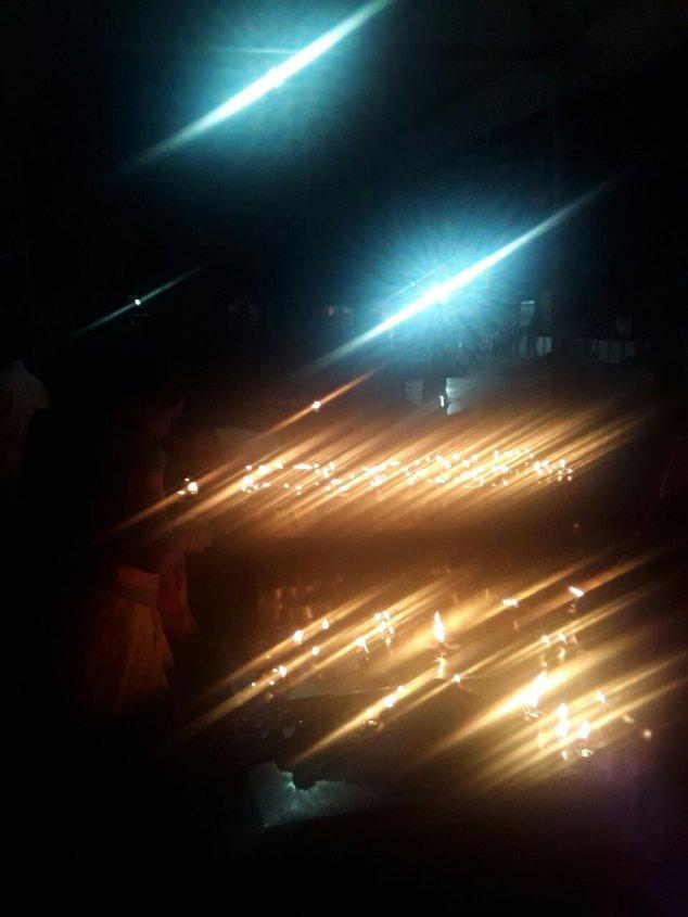 Lamps shining