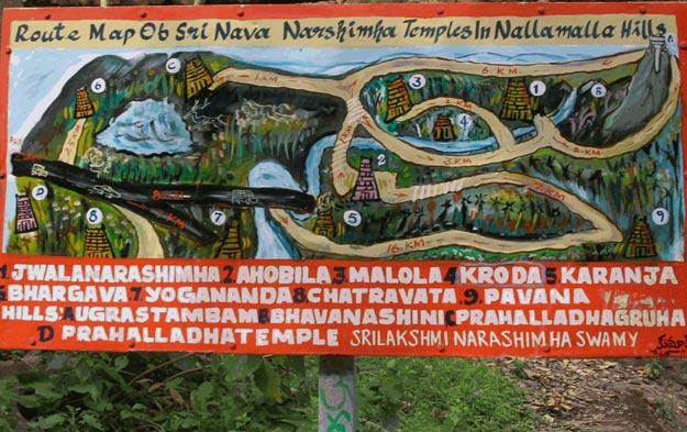 m Narasimha Temple map