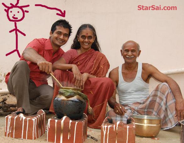 celebrating tamil pongal amma appa venkat