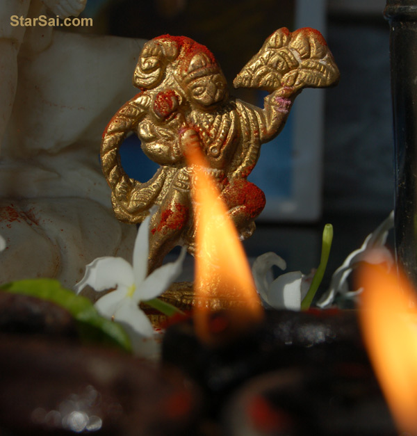 Hanuman Jayanthi Pooja - Love the way the lamp glows as if it is ...