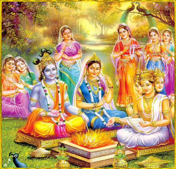 Image result for lord krishna and rukmani