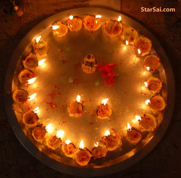 Shirdi Saibaba Lemon lamps pooja