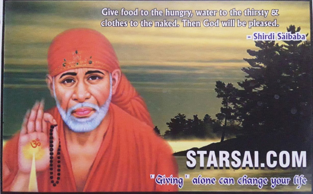 Thousand flowers in the holy feet of Shirdi Sai Baba