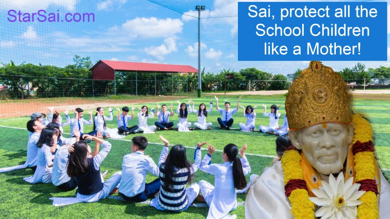 Shirdi Saibaba Protects School Children