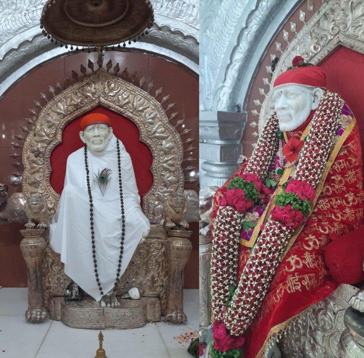 Shirdi Sai Baba Marble statue in Gulbarga Sai Mandir