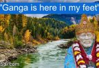 Shirdi Sai Baba Miracle - Ganga in Sai's holy feet