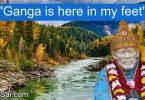 Shirdi Sai Baba Miracle - Ganga in Sai's holy feet