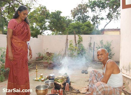 making sweet pongal festival