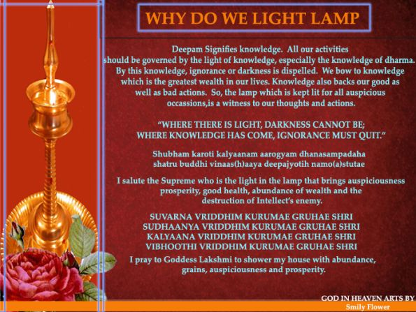 significance of lighting the lamp