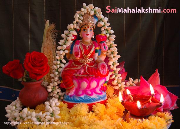 Prasanna Vaibhava Lakshmi vrata for Goddess Mahalakshmi