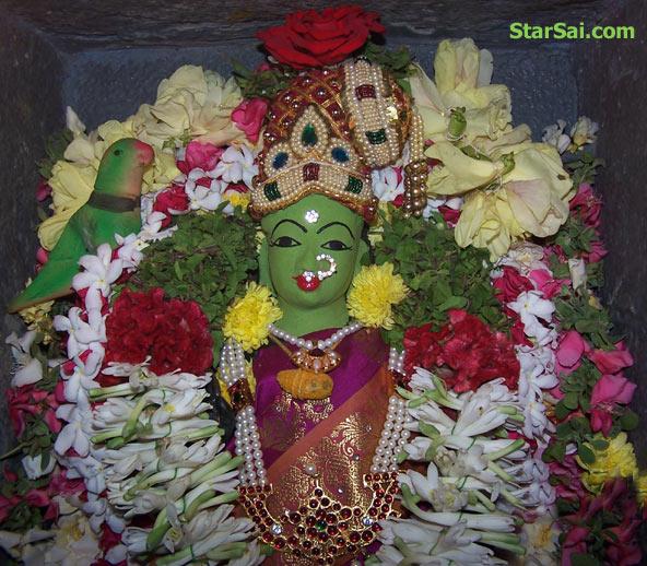 Goddess Meenakshi amman alankaram for Durga