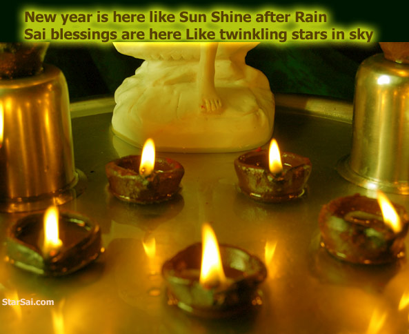 saibaba blessings to you this new year from the lamps of nanda deep
